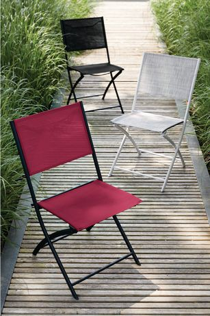 chaise en tissu tendu pliante de mainstays walmart canada. Black Bedroom Furniture Sets. Home Design Ideas