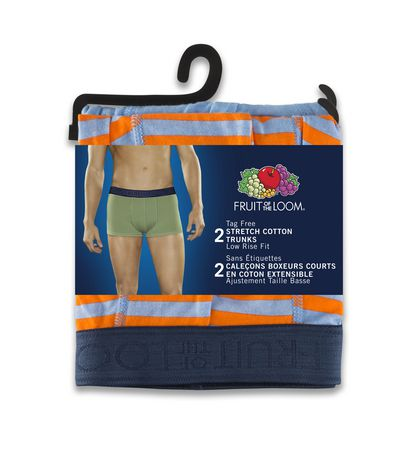 Fruit of the Loom Stretch Cotton Low Rise Prints & Solid Trunk, 2 Pack - image 3 of 3