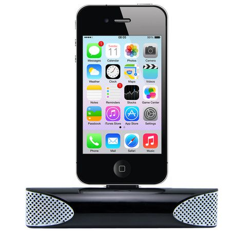 Exian IPhone 3GS / 4 / 4S Speaker U0026 Charger Dock Black | Walmart Canada