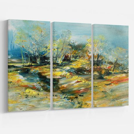 Design Art Abstract Landscape Canvas Print - image 2 of 2