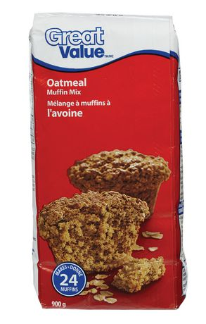 Mélange à muffins à l'avoine Great Value - image 1 de 2