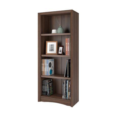 Biblioth que corliving quadra 59 po avec faux fini couleur for Faux fini meuble