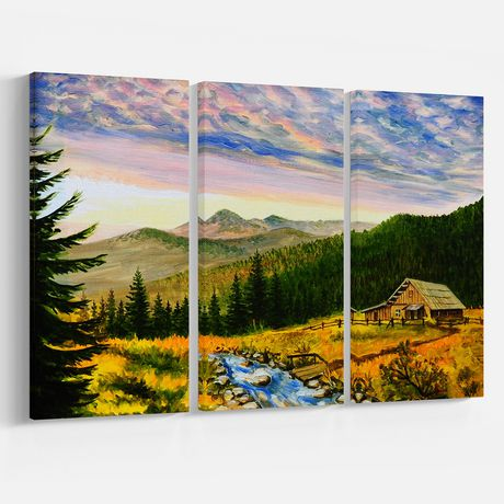 Impression sur toile « Sunset In Mountains » Design Art - image 2 de 2