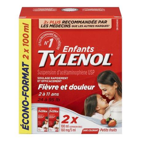 Children S Tylenol 174 Acetaminophen Dye Free Soothing Berry