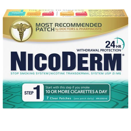Nicoderm Clear Step 1 Patches, Nicotine Transdermal Patch, 21mg/day - image 1 of 8