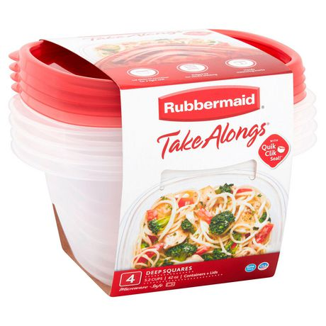 Rubbermaid TakeAlongs Food Storage Container, Deep Squares, 5.2 Cup - image 3 of 7