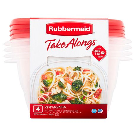 Rubbermaid TakeAlongs Food Storage Container, Deep Squares, 5.2 Cup - image 2 of 7