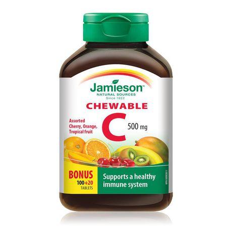 Jamieson Vitamine C à croquer 500mg - 3 saveurs assorties - image 1 de 3