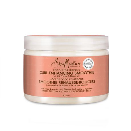 Coconut & Hibiscus Curl Enhancing Smoothie   Controls Frizz And Defines Soft Curls In Thick Hair   Sulfate Free With Natural And Organic Ingredients by Shea Moisture