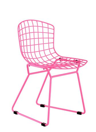 Plata Décor Import baby wire chair in pink - image 1 of 1