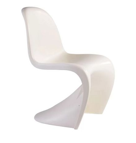 Plata Décor Import Inc Plata Décor Import White Panton Kids Chair - image 1 of 1
