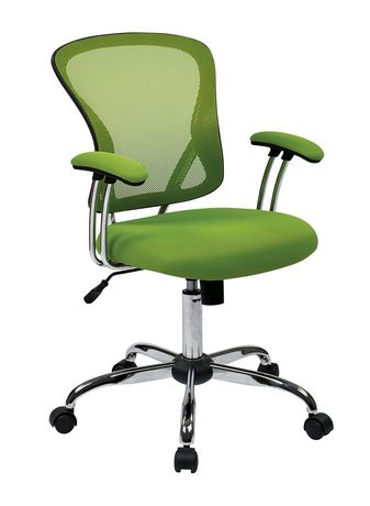 Juliana Task Chair with Green Mesh Fabric Seat - image 1 of 3