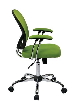 Juliana Task Chair with Green Mesh Fabric Seat - image 2 of 3