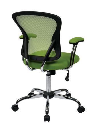 Juliana Task Chair with Green Mesh Fabric Seat - image 3 of 3