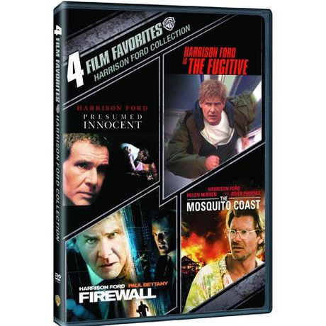 4 Film Favorites: Harrison Ford Collection   Presumed Innocent / The  Fugitive / Firewall / The Mosquito Coast