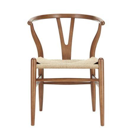 Chaise noisette en corde de bois Plata Décor Import - image 1 de 1