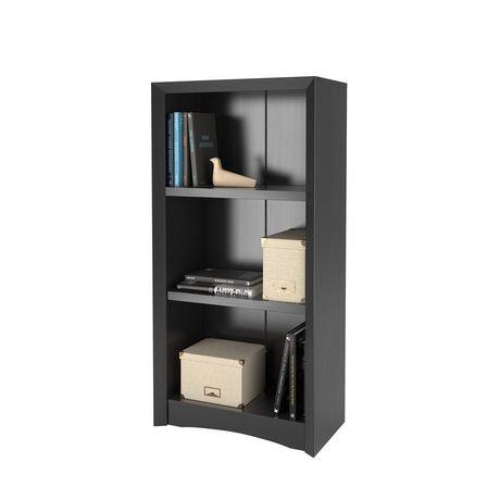 Biblioth que corliving quadra 47 po avec faux fini de bois for Faux fini meuble