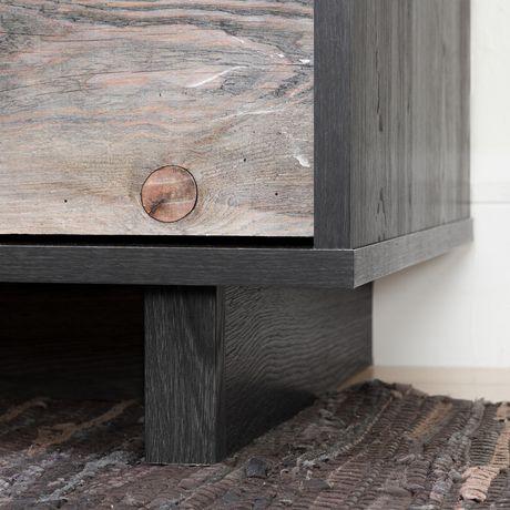 Bureau double 6 tiroirs Fynn, Chêne gris et effet planches industrielles de Meubles South Shore - image 5 de 8