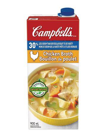 Bouillon de poulet 30% moins de sodium de Campbell's - image 1 de 3
