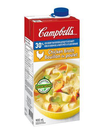 Bouillon de poulet 30% moins de sodium de Campbell's - image 2 de 3