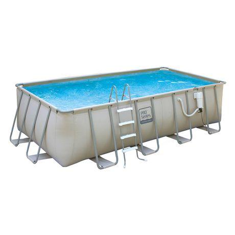 Pro series 52 inch deep metal frame swimming pool package - Pro series frame pool ...