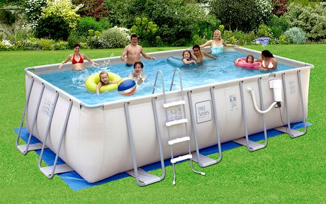 Summer Waves Elite 52 Inch Deep Metal Frame Swimming Pool