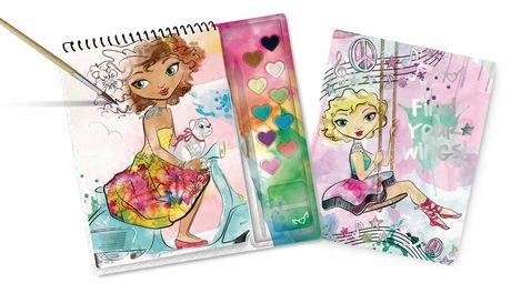 Fashion Angels Watercolor Sketch Portfolio Set Walmart