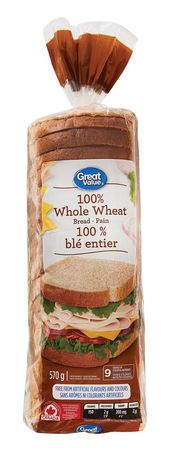Great Value 100% Whole Wheat Bread - image 1 of 2