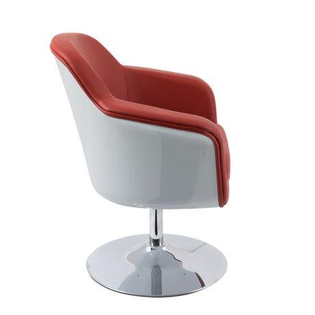 Chaise d 39 appoint moderne mod de corliving en cuir for Chaise d appoint