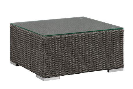Patioflare Evan Sofa Set With Storage Grey Wicker With Dark Grey Cushions Walmart