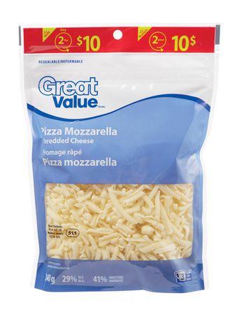 Great Value Fromage Râpé Pizza Mozzarella - image 1 de 2