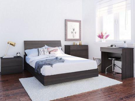 Lit plateforme double Tribeca de Nexera avec tête de lit en ébène - image 4 de 5