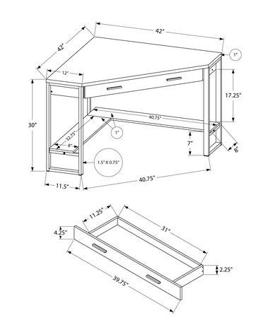 Monarch Specialties - Computer Desk - image 3 of 5