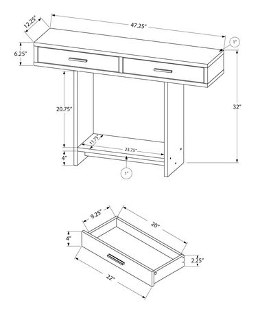 Monarch Specialties - Console Table - image 3 of 5