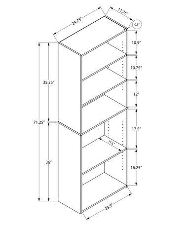 Monarch Specialties - Bookcase - image 5 of 5