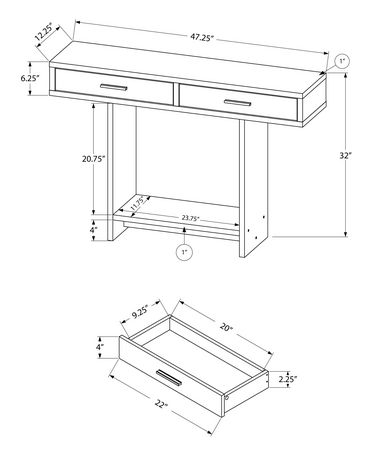 Monarch Specialties - Console Table - image 5 of 5