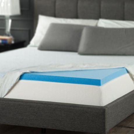 Spa Sensations By Zinus 2 Quot Gel Memory Foam Mattress Topper