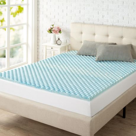 "Spa Sensations by Zinus 1.5"" Swirl Gel Memory Foam Air Flow Mattress Topper - image 1 of 5"