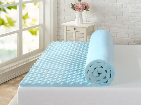 "Spa Sensations by Zinus 1.5"" Swirl Gel Memory Foam Air Flow Mattress Topper - image 2 of 5"