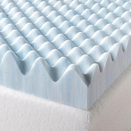 """Spa Sensations by Zinus 3"""" Swirl Gel Memory Foam Air Flow Mattress Topper - image 4 of 5"""