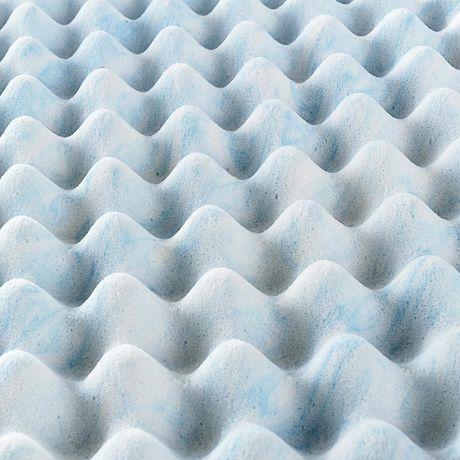 """Spa Sensations by Zinus 3"""" Swirl Gel Memory Foam Air Flow Mattress Topper - image 5 of 5"""