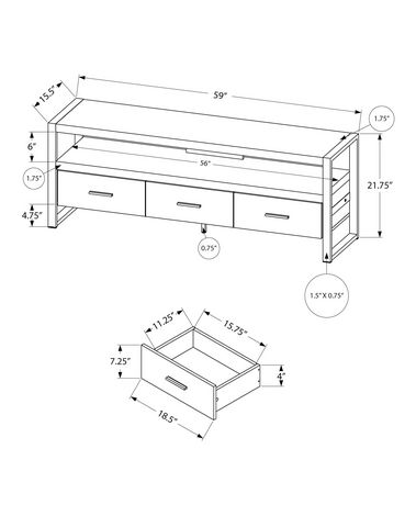 Monarch Specialties - Tv Stand - image 3 of 5