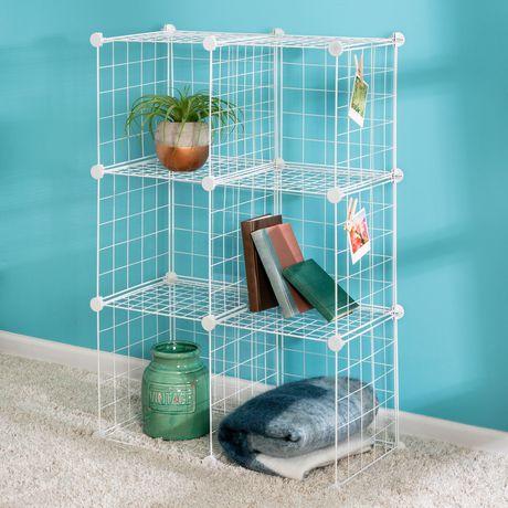 Rangement Cube Modulable 6 cubes de rangement en mailles modulaire | walmart canada