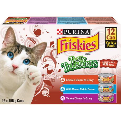 Friskies Tasty Treasures Accented with Real Bacon Cat Food Variety Pack - image 1 of 5