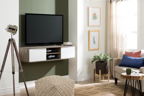 "South Shore Agora 56"" Wide Wall Mounted Media Console - image 2 of 8"