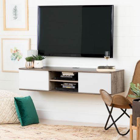 "South Shore Agora 56"" Wide Wall Mounted Media Console - image 1 of 8"