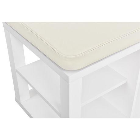 Ameriwood Parsons Storage Bench, White - image 6 of 9