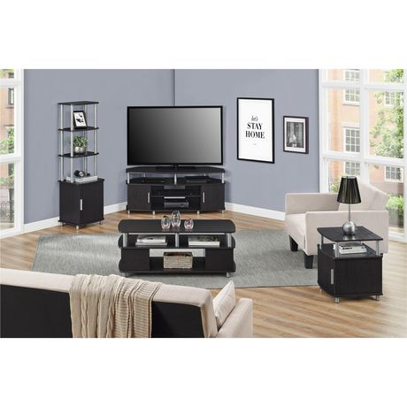 "Carson Corner TV Stand for TVs up to 50"", Black/Cherry - image 5 of 7"