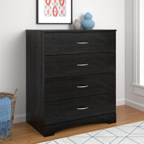 crescent point 4 drawer dresser vintage white walmart canada. Black Bedroom Furniture Sets. Home Design Ideas