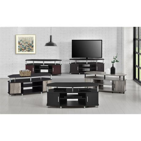 "Carson Corner TV Stand for TVs up to 50"", Black/Cherry - image 6 of 7"